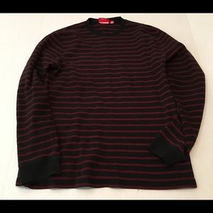Vans Mens Sweater XL Red Black Stripes